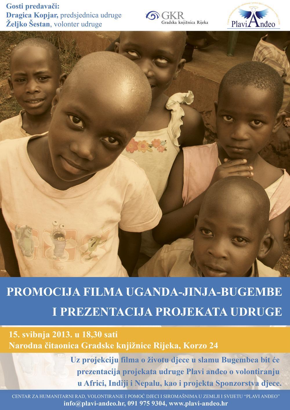 Plakat za prezentaciju udruge u Rijeci