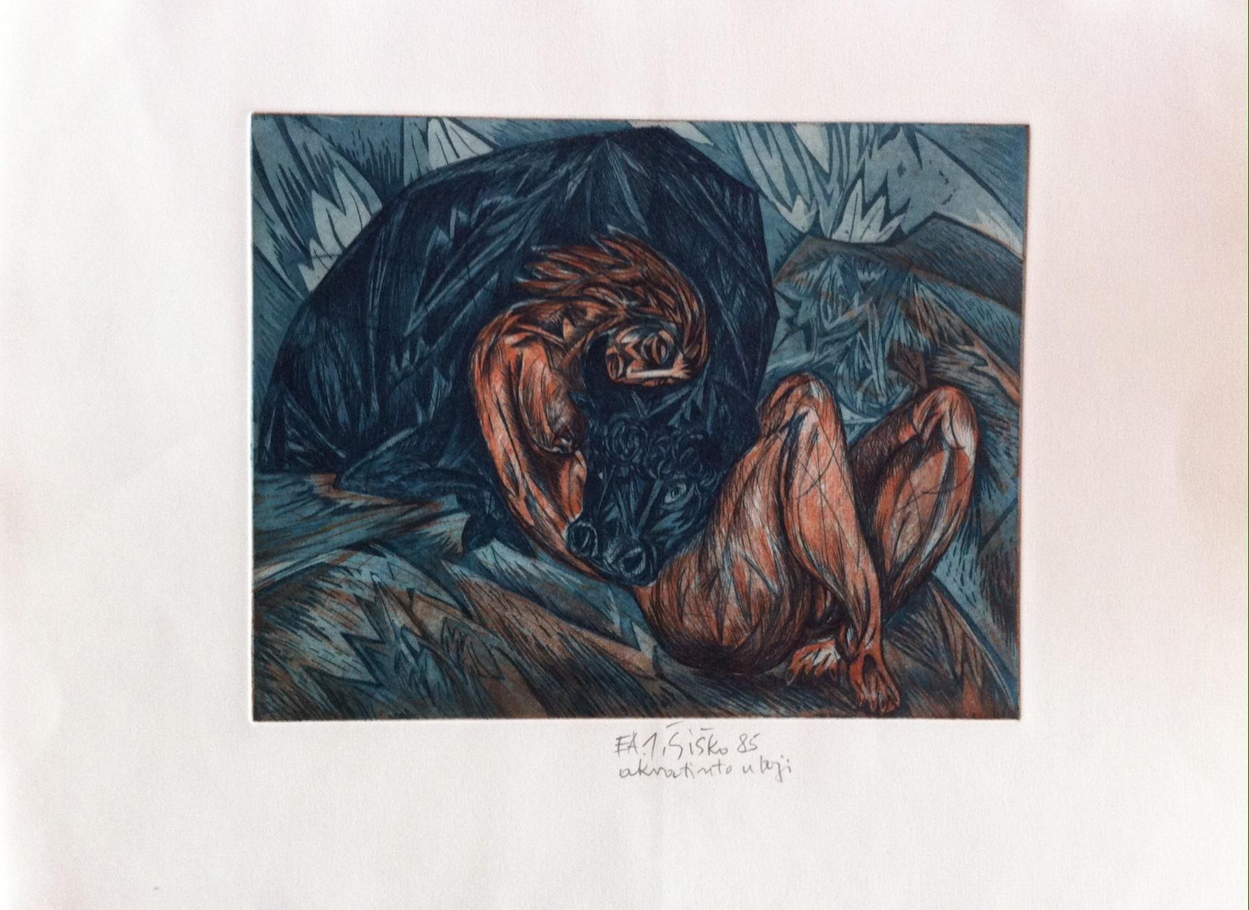 aukcija grafike Ivica Šiško